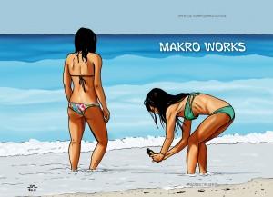 Makro works Εκδόσεις Πασχέντη, 40 σελίδες, έγχρωμο, κυκλοφόρησαν μόνο 80 αριθμημένα αντίτυπα